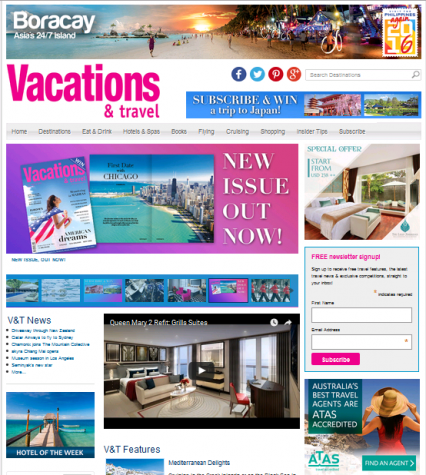 Vacations & Travel Homepage tile advert