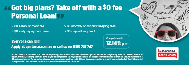 Plan ahead with Qantas Credit Union
