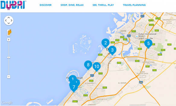 Interactive Map of Dubai