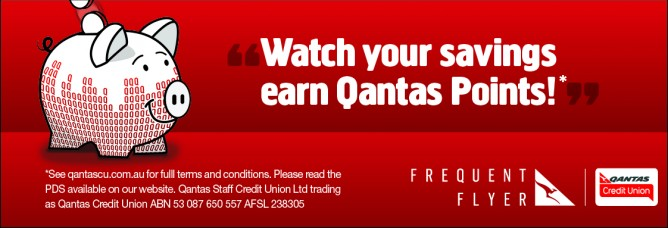 Saving with Qantas Credit Union