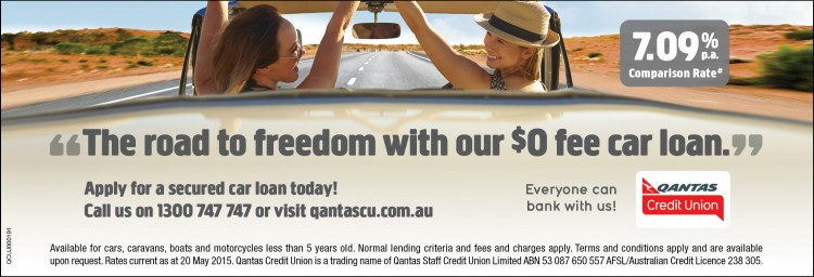 Qantas Credit Union - Apply for a secured car loan today!