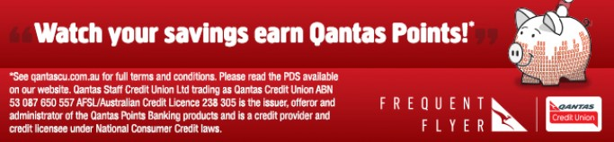 Watch your savings earn Qantas Points
