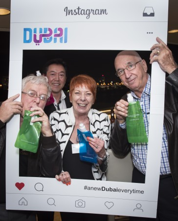 Agents enjoying gifts from Dubai Parks and Resorts