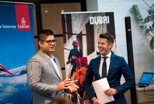 Dubai Tourism Perth Trade Lunch - Abdul Raouf and Matt Tinney