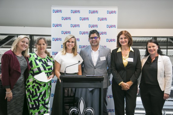 Teree, Jumeirah Hotels & Resports, Louise, Excite Holidays, Edwina, Raouf, Dubai Parks & Resorts, Mira, AL Maha Desert Resort & Spa and Jodie Collins at Sydney Lunch
