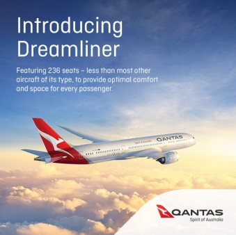 Fly on the Dreamliner ex Melbourne to San Francisco