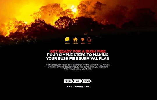 4 simple steps to making your bush fire survival plan